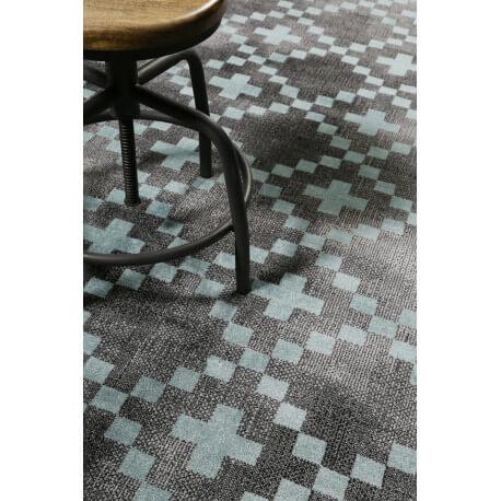 Tapis Scandinave Geometrique Gris Et Turquoise Pleasure 2 0 Wecon Home