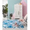 Tapis bleu kilim pour salon Blue Mellow