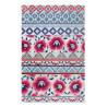 Tapis floral en laine multicolore Pink Poppy