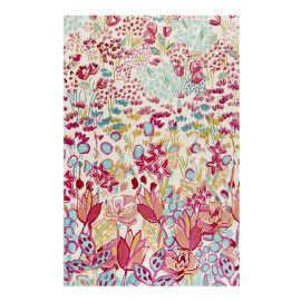 Tapis multicolore en laine floral Splash Bouquet