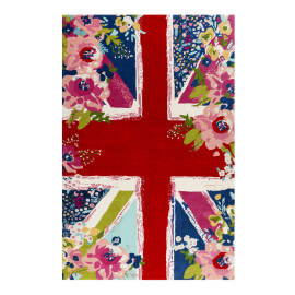 Tapis anglais floral à courtes mèches multicolore Bloom Kingdom