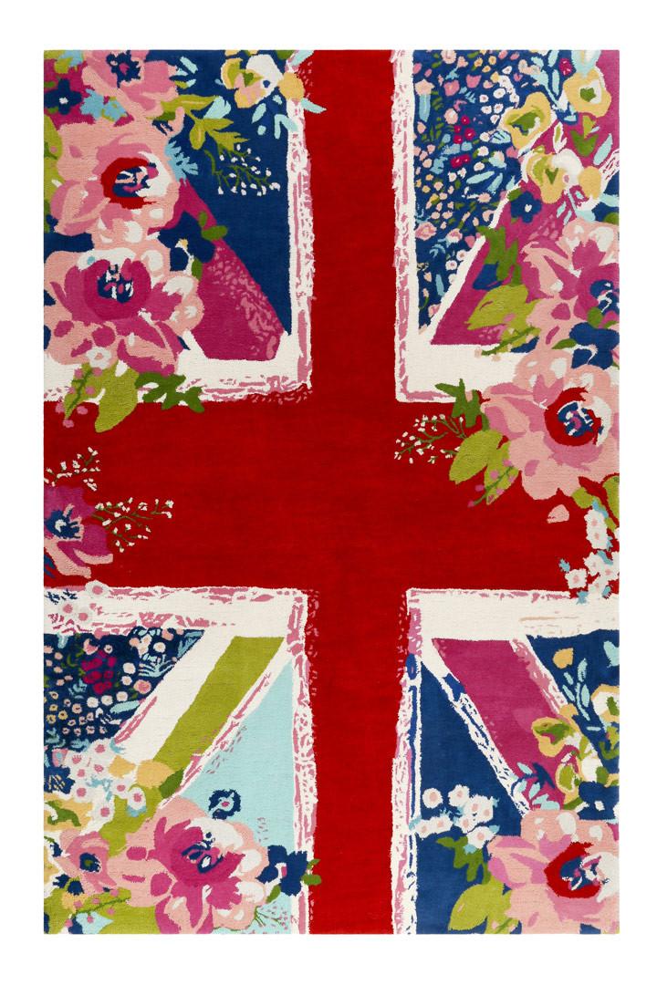 Tapis Anglais Floral A Courtes Meches Multicolore Bloom Kingdom