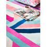 Tapis multicolore graphique en laine Linear
