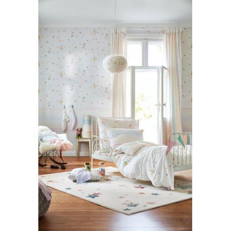 Tapis pour chambre enfant étoilé blanc Jonne Esprit Home