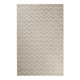 Tapis beige et argenté géométrique extérieur plat ZigZag Esprit Home