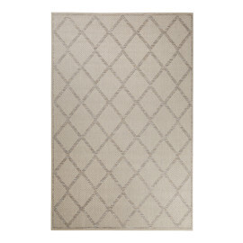 Tapis géométrique extérieur beige et argenté Rhomb Esprit Home