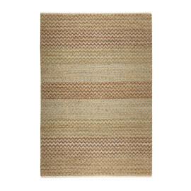 Tapis en jute brun pour chambre uni Zigzag Nature Esprit Home