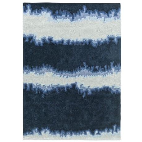 Tapis bleu batik touch I par Arte Espina