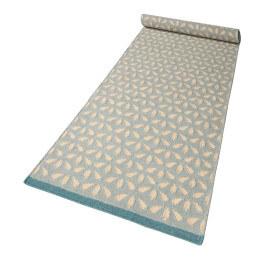 Tapis géométrique en laine plat bleu clair Hanno Kelim Esprit Home