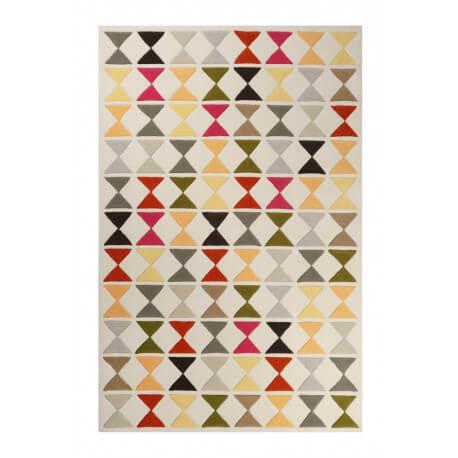 Tapis jaune géométrique en laine de N-Z Mahan Esprit Home