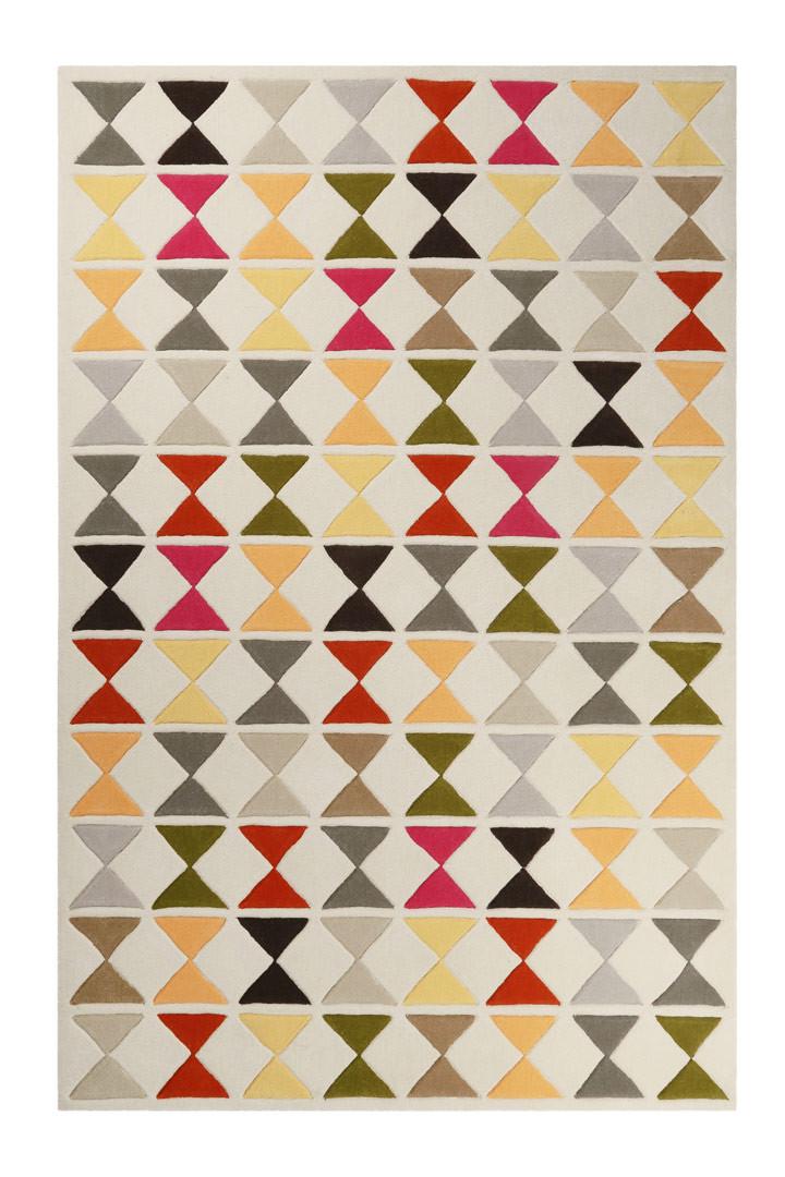 Tapis géométrique en laine de N-Z Mahan Esprit Home