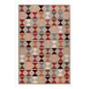 Tapis rouge géométrique en laine de N-Z Mahan Esprit Home