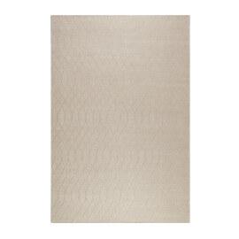 Tapis uni beige en laine plat Esprit Home Lotte Kelim