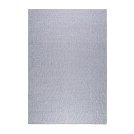 Tapis uni bleu clair en laine plat Esprit Home Lotte Kelim
