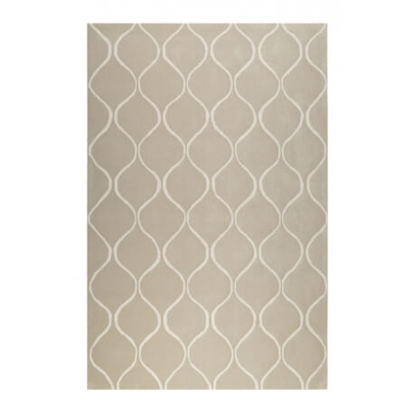 Tapis sable en laine de N-Z rectangle géométrique Aramis Esprit Home