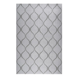 Tapis gris en laine de N-Z rectangle géométrique Aramis Esprit Home