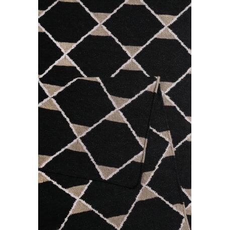 Tapis plat en laine géométrique noir Aaron Kelim Esprit Home