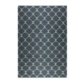 Tapis plat en laine géométrique vert foncé Aaron Kelim Esprit Home