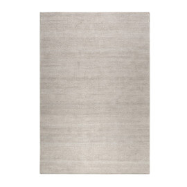 Tapis uni en laine rectangle argenté Maya Kelim Esprit Home