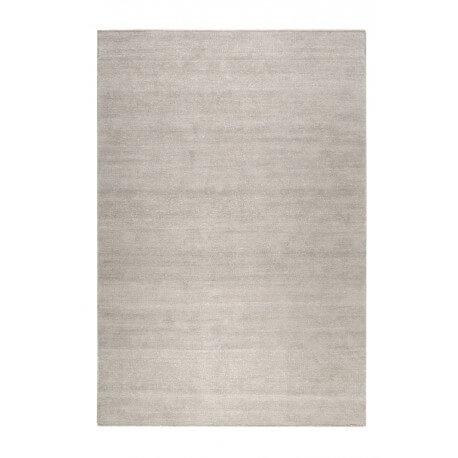 Tapis uni en laine rectangle argenté Maya Kelim Esprit Home