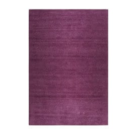 Tapis uni en laine rectangle rose Maya Kelim Esprit Home