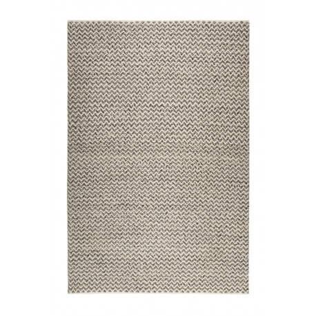 Tapis géométrique blanc et noir en laine Sandi Kelim Esprit Home