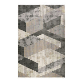 Tapis géométrique gris rectangle Tamo Esprit Home