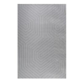 Tapis courtes mèches géométrique argenté Raban Esprit Home
