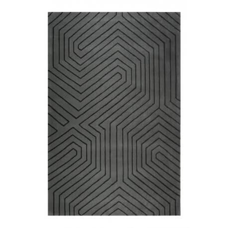 Tapis courtes mèches géométrique gris Raban Esprit Home