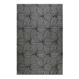 Tapis gris floral en laine de N-Z design Oria Esprit Home