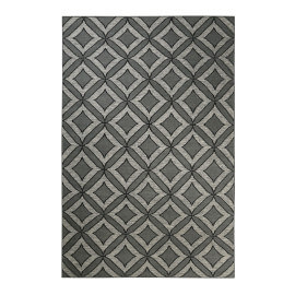 Tapis gris en laine Esprit Home plat géométrique Kian Kelim