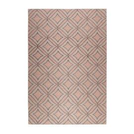 Tapis rose en laine Esprit Home plat géométrique Kian Kelim