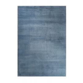 Tapis gris bleu shaggy doux uni Loft Esprit Home