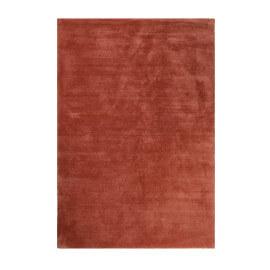 Tapis rouge brique shaggy doux uni Loft Esprit Home