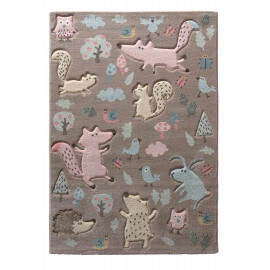 Tapis pour chambre enfant Sigikid taupe Forest