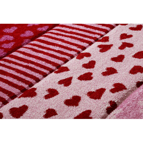 Tapis pour fille rouge rectangle Canon Sigikid