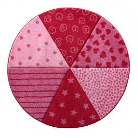 Tapis rond rouge pour enfant Round Canon Sigikid