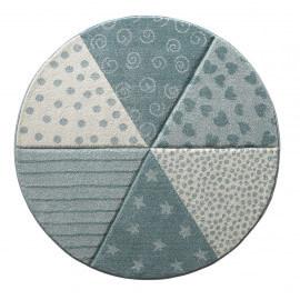 Tapis rond bleu pastel pour enfant Round Canon Sigikid