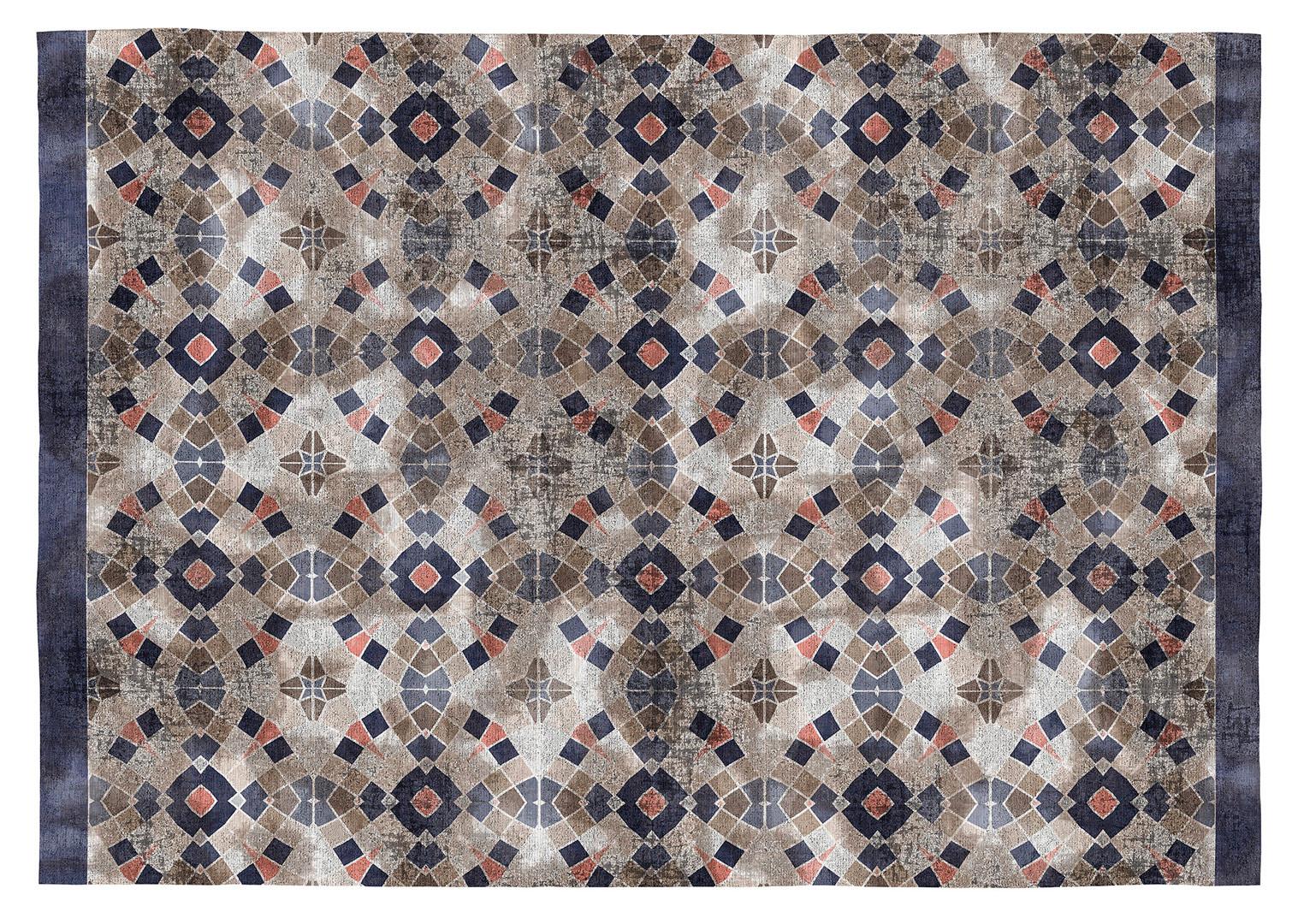 Tapis Effet Carreaux De Ciment tapis multicolore carreaux de ciments plat en coton agatha