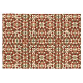 Tapis rectangle scandinave multicolore géométrique plat Aria