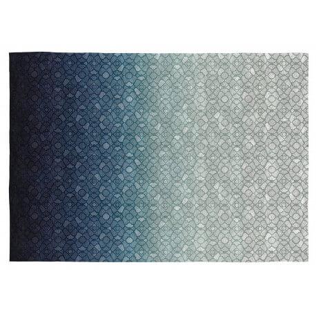 Tapis Berlin Vivabita plat bleu design en coton