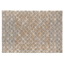Tapis beige et moutarde design rectangulaire Boggart