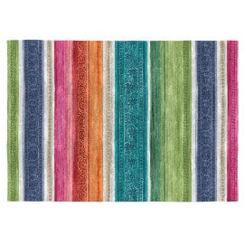 Tapis multicolore rayé plat intérieur Clarissa