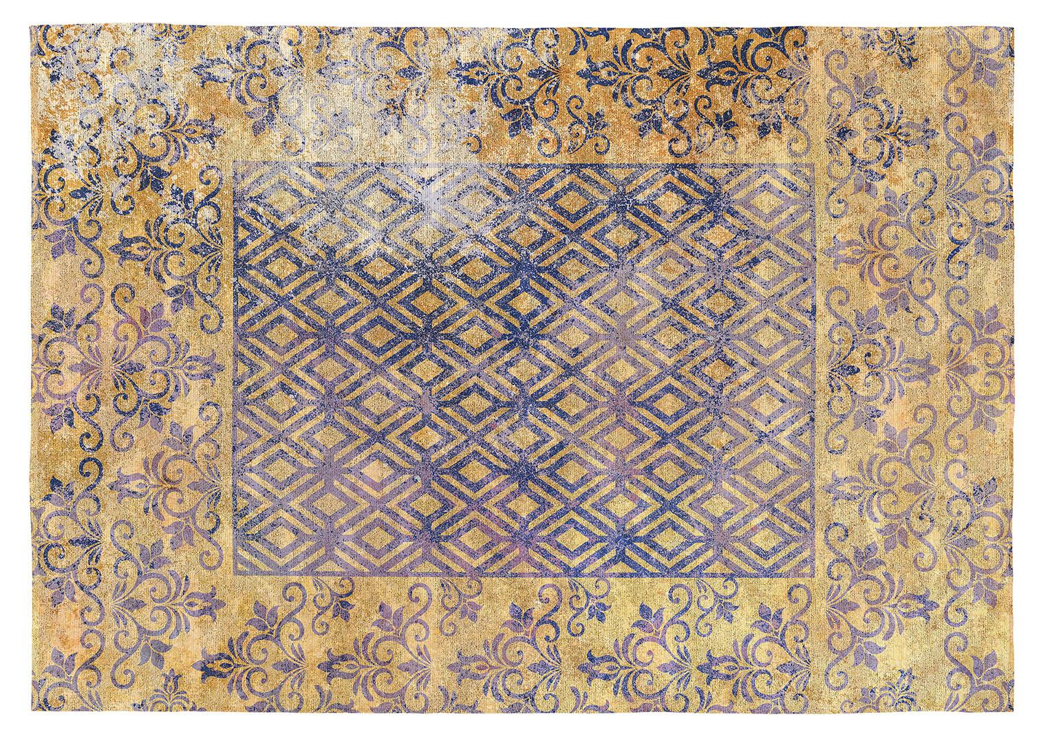 Tapis plat jaune Vivabita design Corey