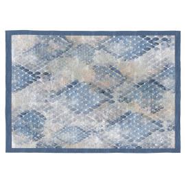 Tapis Vivabita plat en coton bleu vintage Doxy