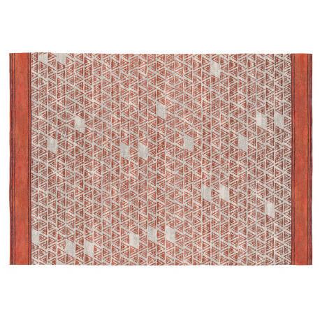 Tapis scandinave orange plat en coton Einar