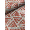 Tapis scandinave orange plat en coton Einar