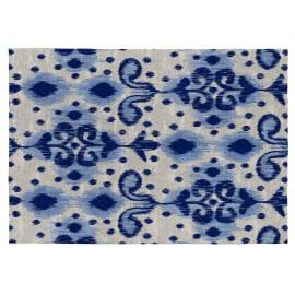 Tapis bleu plat pour intérieur ethnique Frida
