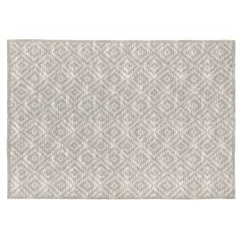 Tapis scandinave beige coton plat Gobi