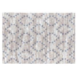Tapis moderne gris plat en coton Helmi